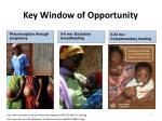 key window of opportunity