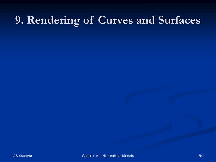 9. Rendering of Curves and Surfaces