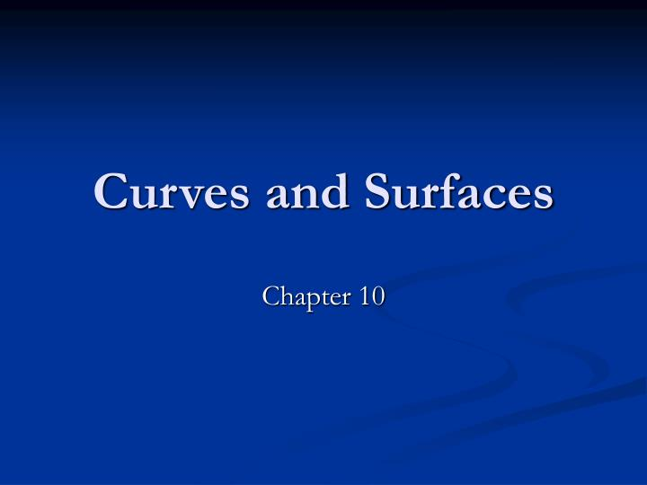curves and surfaces n.
