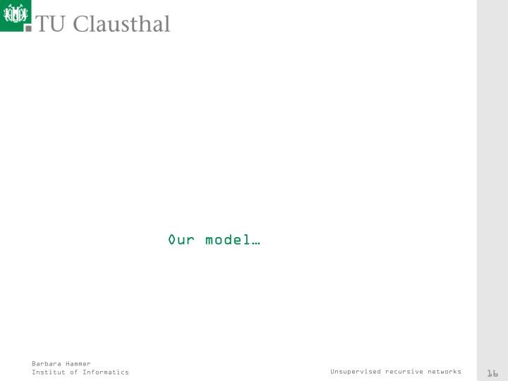 Our model…