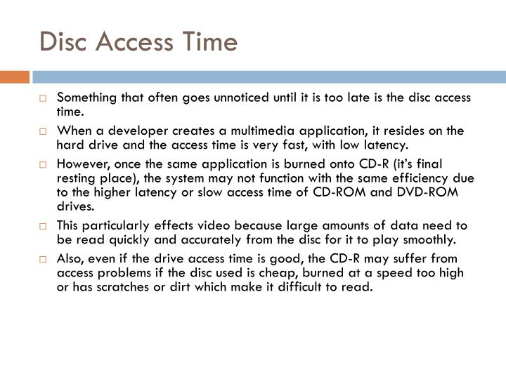 Disc Access Time