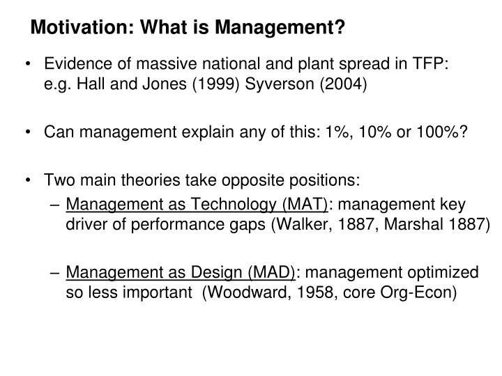 Motivation what is management