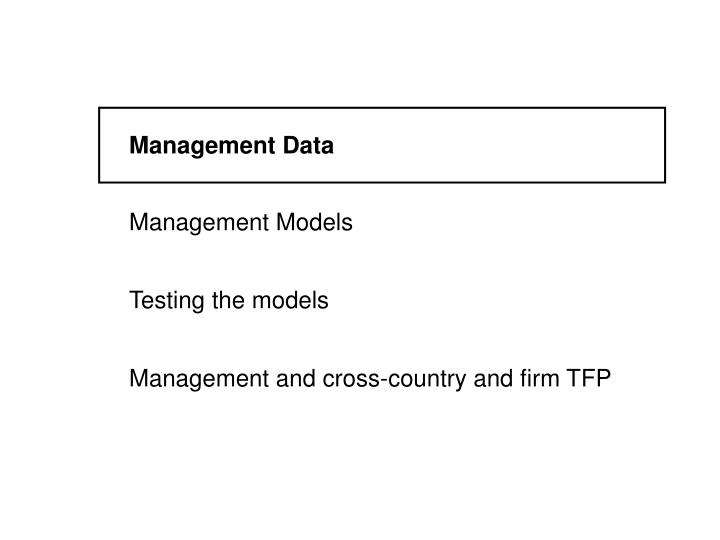 Management Data