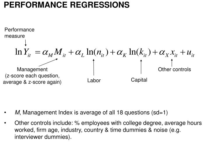 PERFORMANCE REGRESSIONS