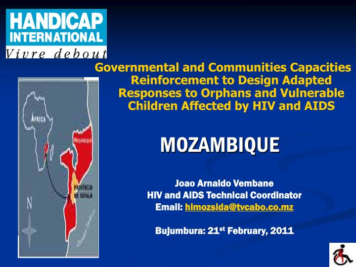 Governmental and Communities Capacities Reinforcement to Design Adapted Responses to Orphans and V...