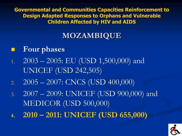 Governmental and Communities Capacities Reinforcement to Design Adapted Responses to Orphans and Vul...