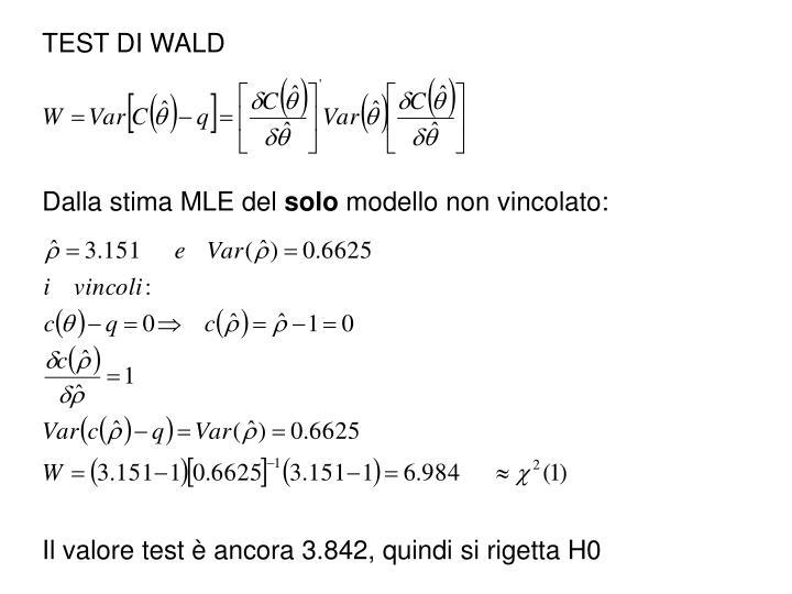 TEST DI WALD