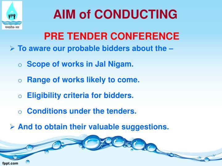 AIM of CONDUCTING