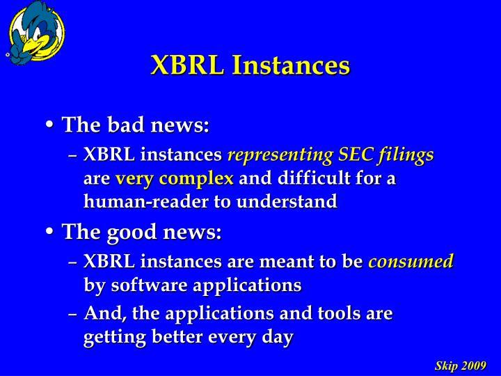 XBRL Instances