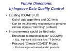 future directions b improve data quality control
