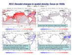 r2 5 decadal changes in spatial density focus on 1930s red grey 0 blue
