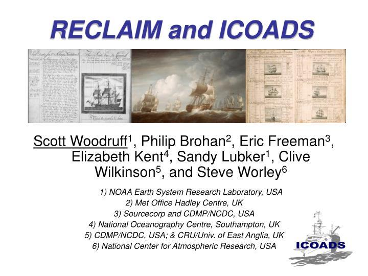 reclaim and icoads n.