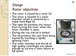 design rotor objectives