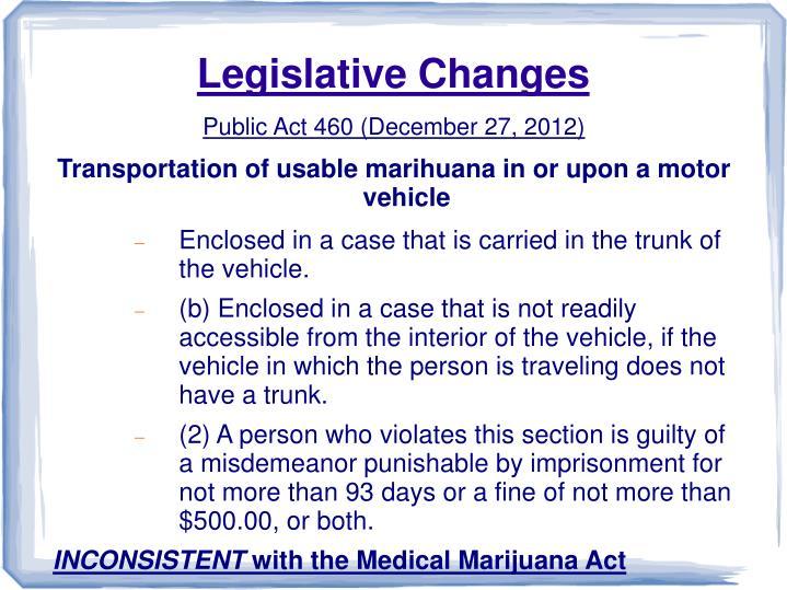 Legislative Changes
