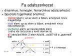 fa adatszerkezet