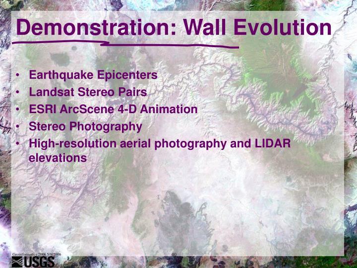 Demonstration: Wall Evolution