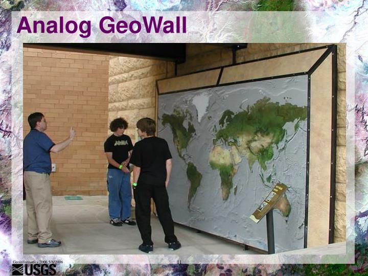 Analog GeoWall