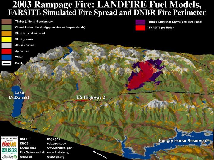 2003 Rampage Fire: LANDFIRE Fuel Models,