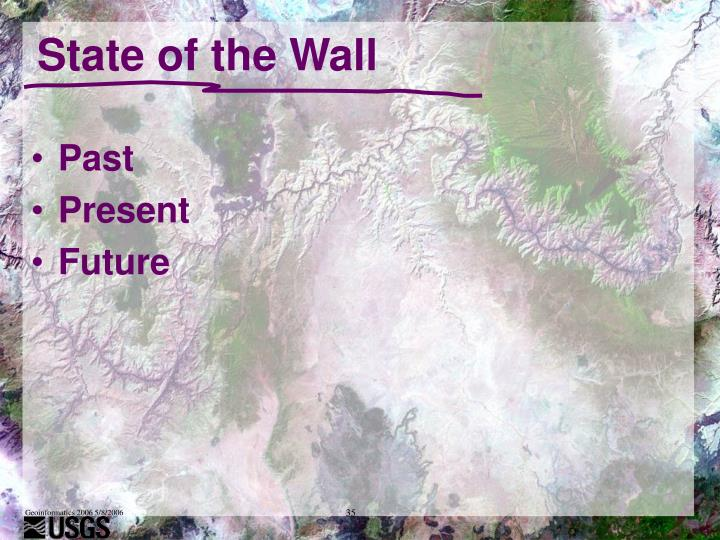 State of the Wall