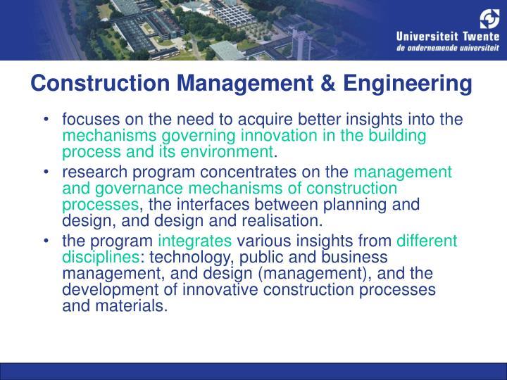 Construction Management & Engineering