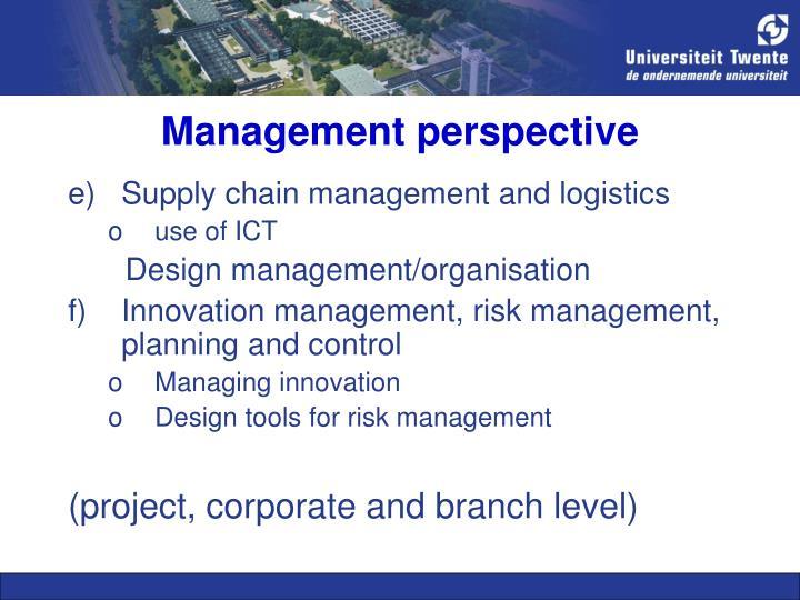 Management perspective
