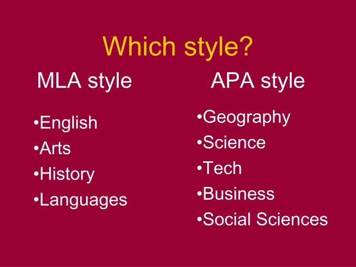 Which style?