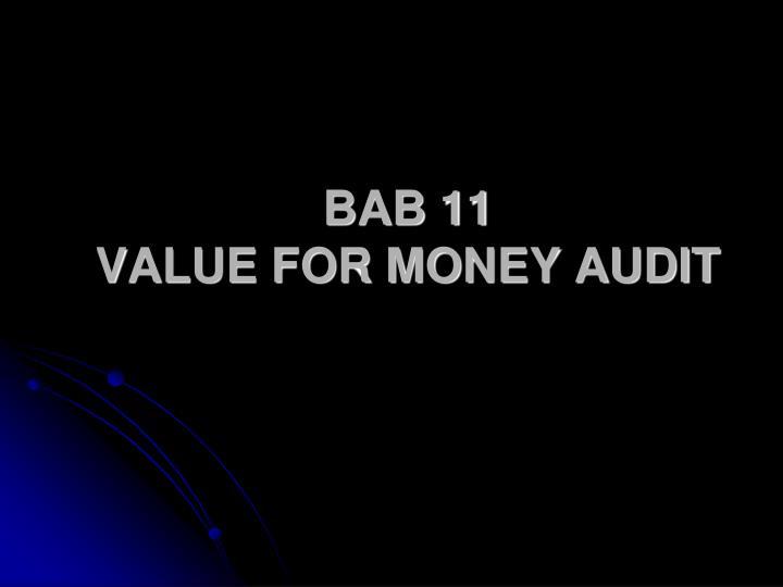 bab 11 value for money audit n.