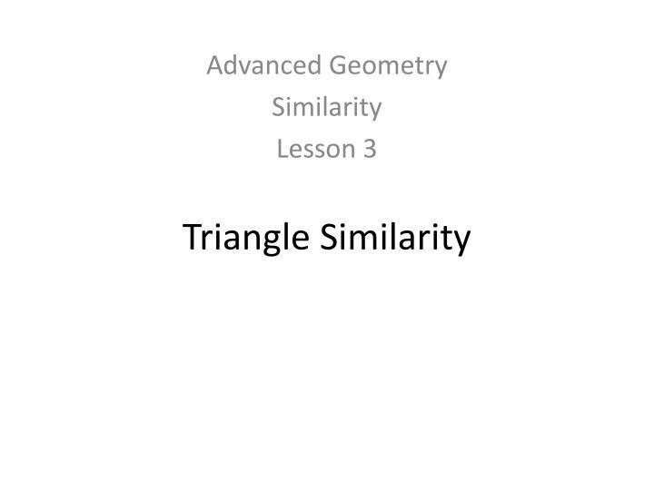 triangle similarity n.