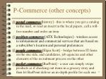 p commerce other concepts