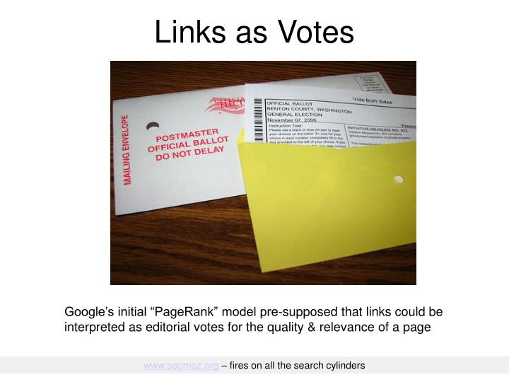 Links as Votes