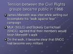 tension between the civil rights groups became public in 1966