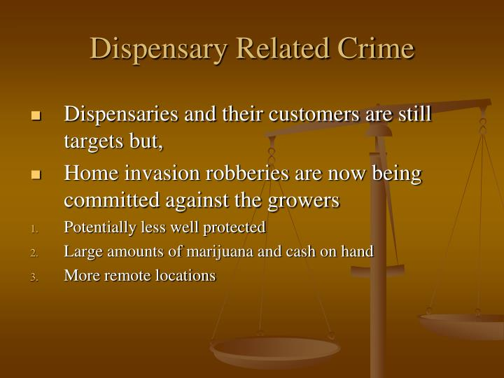 Dispensary Related Crime