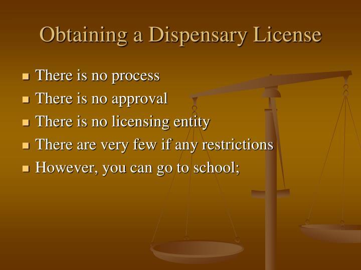 Obtaining a Dispensary License