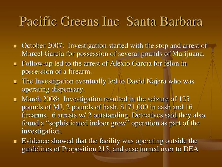 Pacific Greens Inc  Santa Barbara