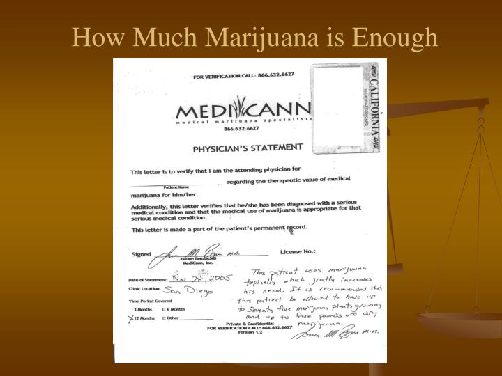How Much Marijuana is Enough