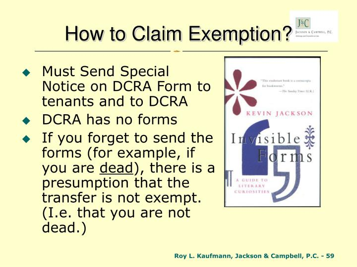 How to Claim Exemption?