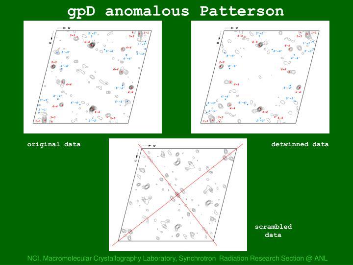 gpD anom Pattersons