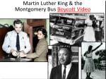 martin luther king the montgomery bus boycott video