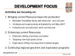 development focus