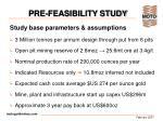 pre feasibility study