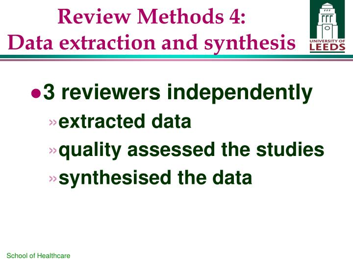 Review Methods 4: