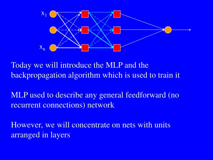 Multi layer perceptron mlp