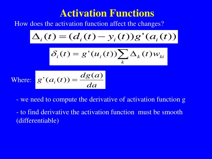 Activation Functions