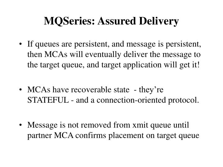 MQSeries: Assured Delivery