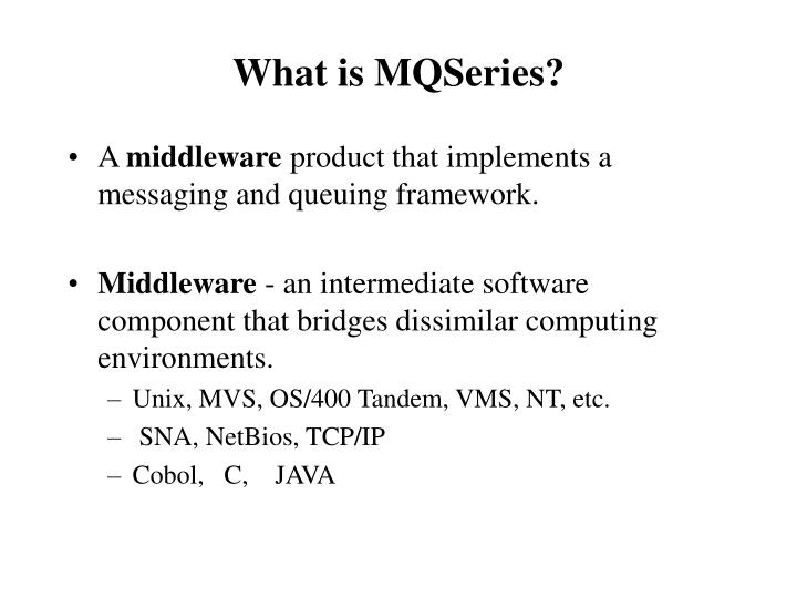What is mqseries