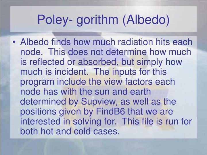 Poley- gorithm (Albedo)