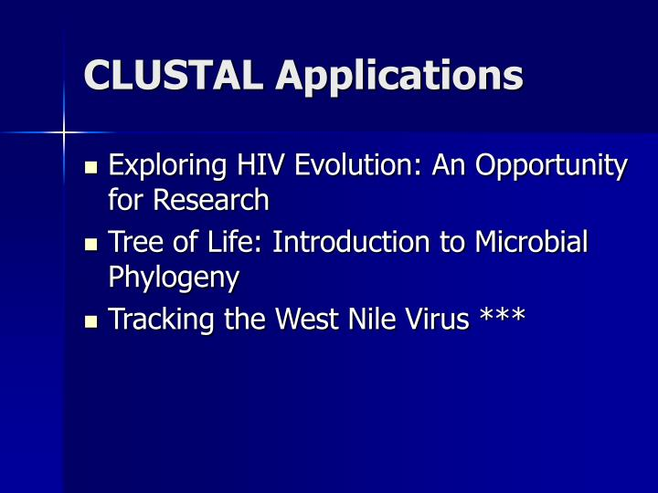 CLUSTAL Applications