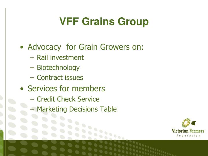 VFF Grains Group