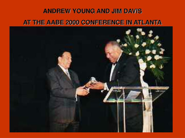 ANDREW YOUNG AND JIM DAVIS