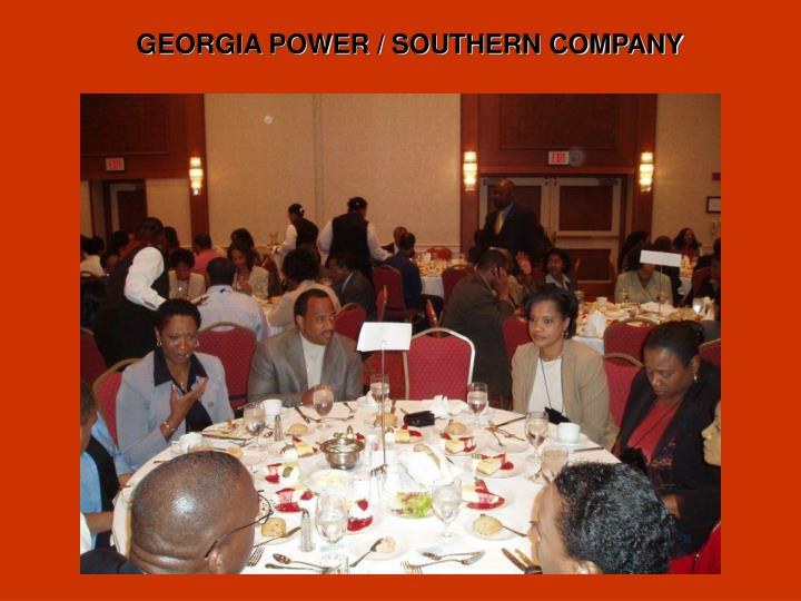 GEORGIA POWER / SOUTHERN COMPANY